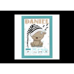 Poster nascita Orsetto