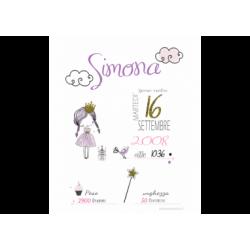 Poster nascita principessa